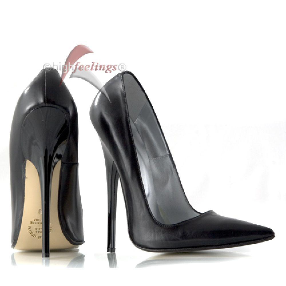 extrem stiletto pumps high heels nappaleder schwarz ebay. Black Bedroom Furniture Sets. Home Design Ideas