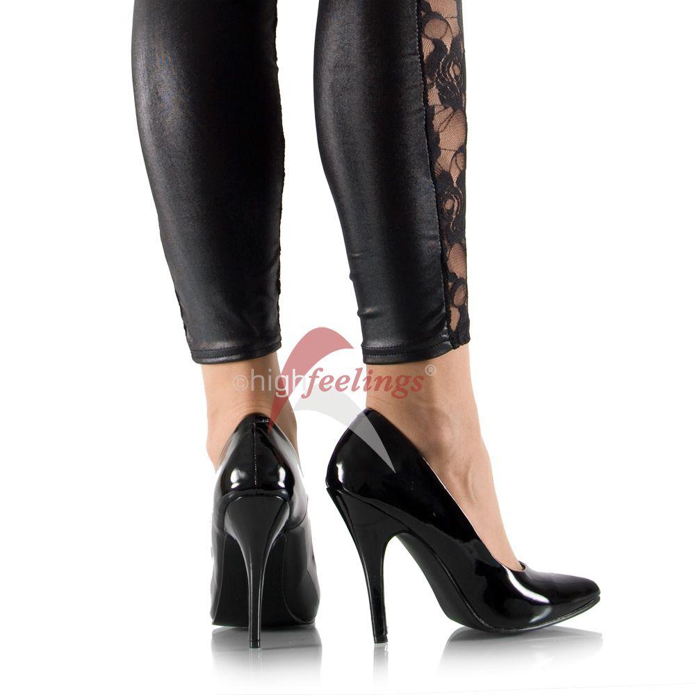 high heels pumps lack schwarz 11 13 cm absatz gr 35. Black Bedroom Furniture Sets. Home Design Ideas