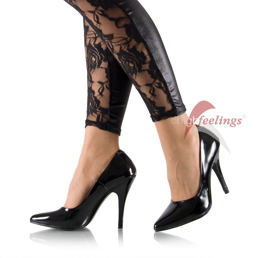 high heels pumps lack schwarz 11 13 cm absatz gr 35 47 ebay. Black Bedroom Furniture Sets. Home Design Ideas