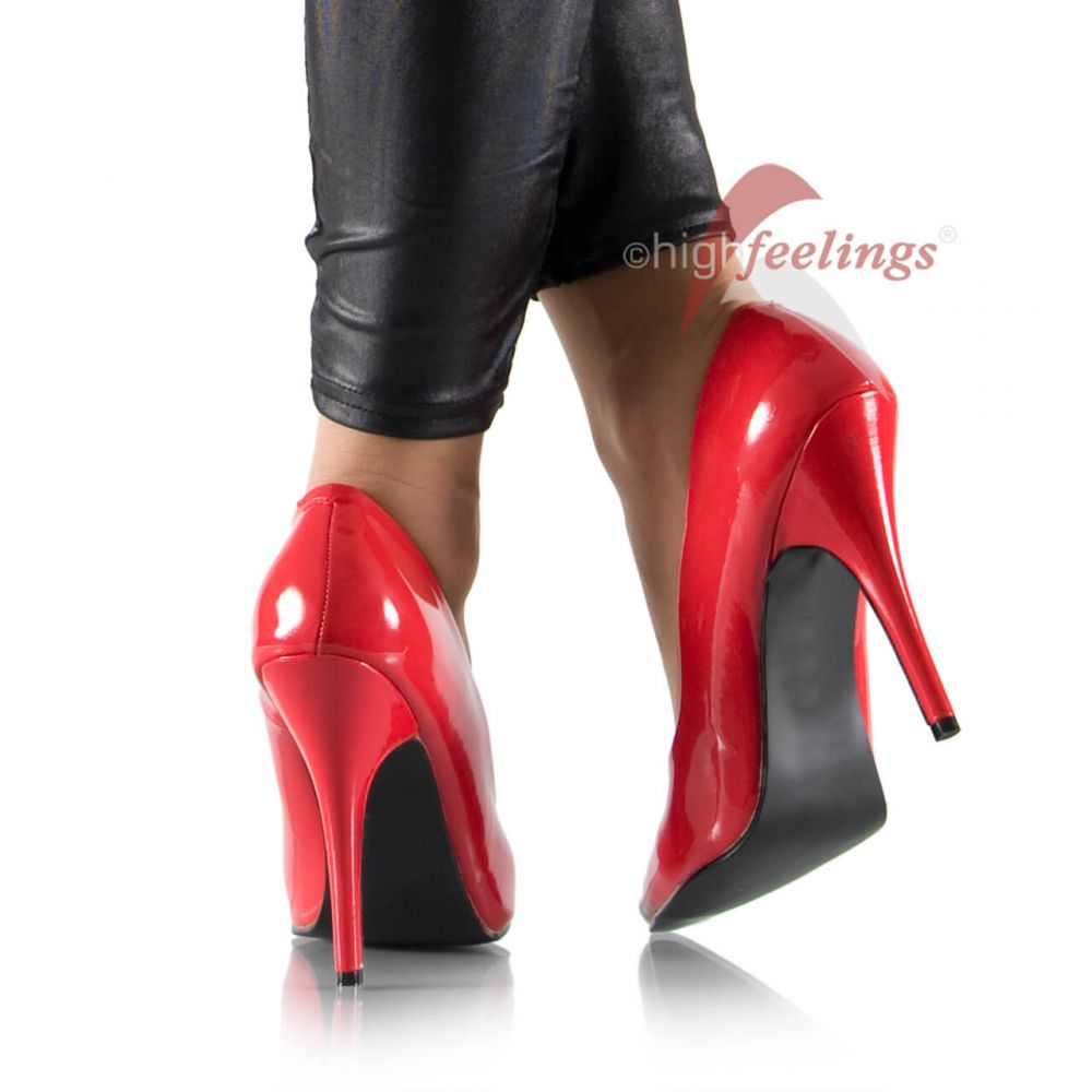 high heels pumps rot lack 11 13 cm absatz gr 35 47 ebay. Black Bedroom Furniture Sets. Home Design Ideas