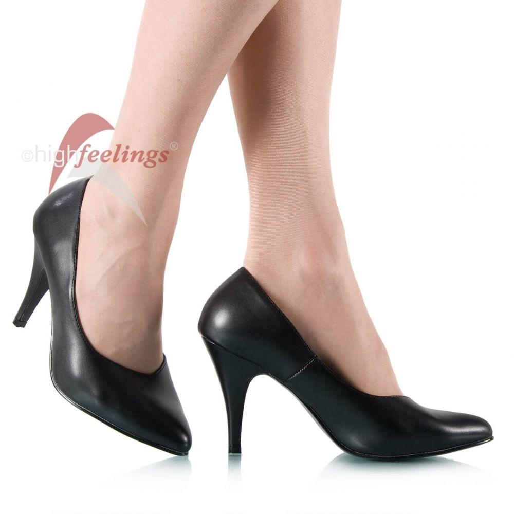 herren pumps m nner high heels schwarz kunstleder gr 43. Black Bedroom Furniture Sets. Home Design Ideas