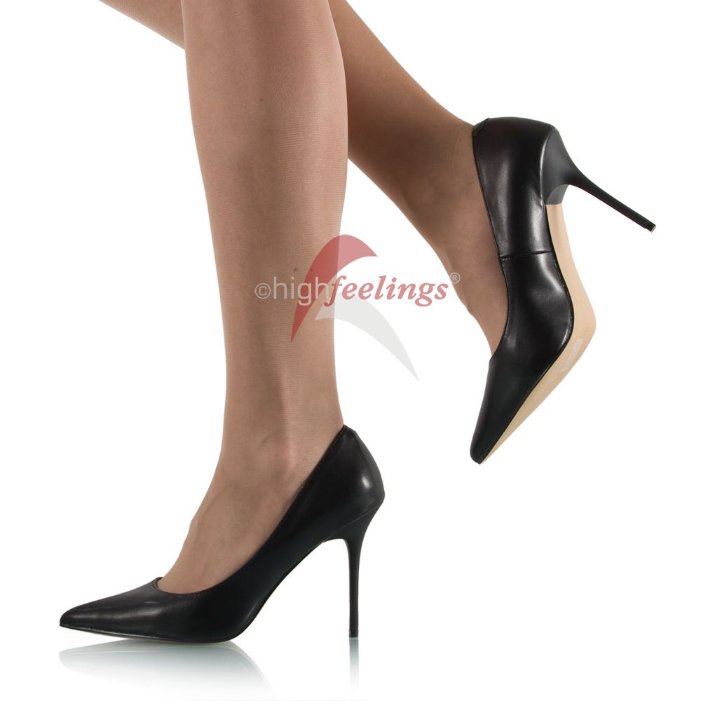 schwarze spitze high heels pumps gr e eur 36 47 ebay. Black Bedroom Furniture Sets. Home Design Ideas