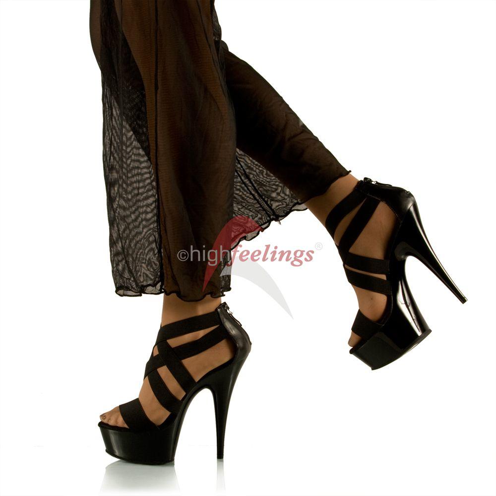 high heel sandalette schwarz 14 5 16 5 cm absatz 4 5. Black Bedroom Furniture Sets. Home Design Ideas