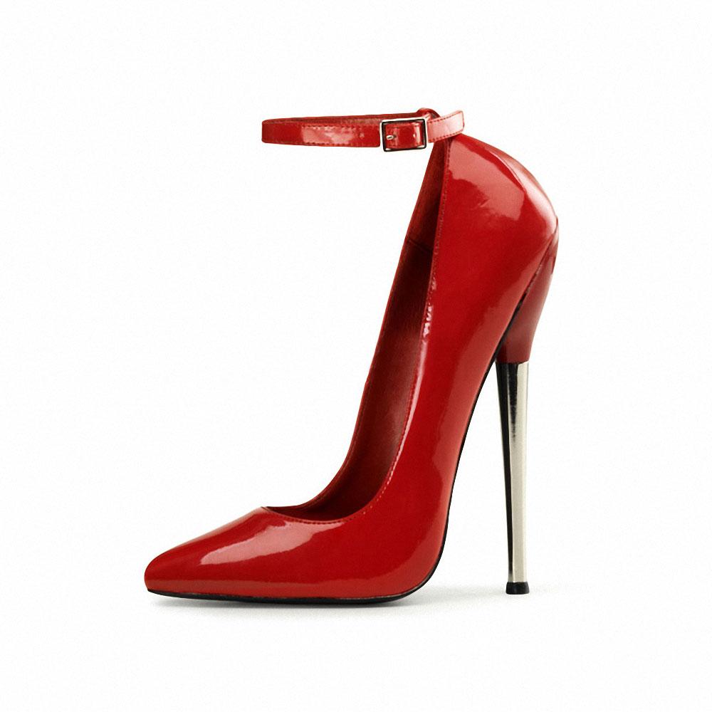 bada5e1334ca1f ... Vorschau  Extreme Stiletto High Heels Lack Rot ...