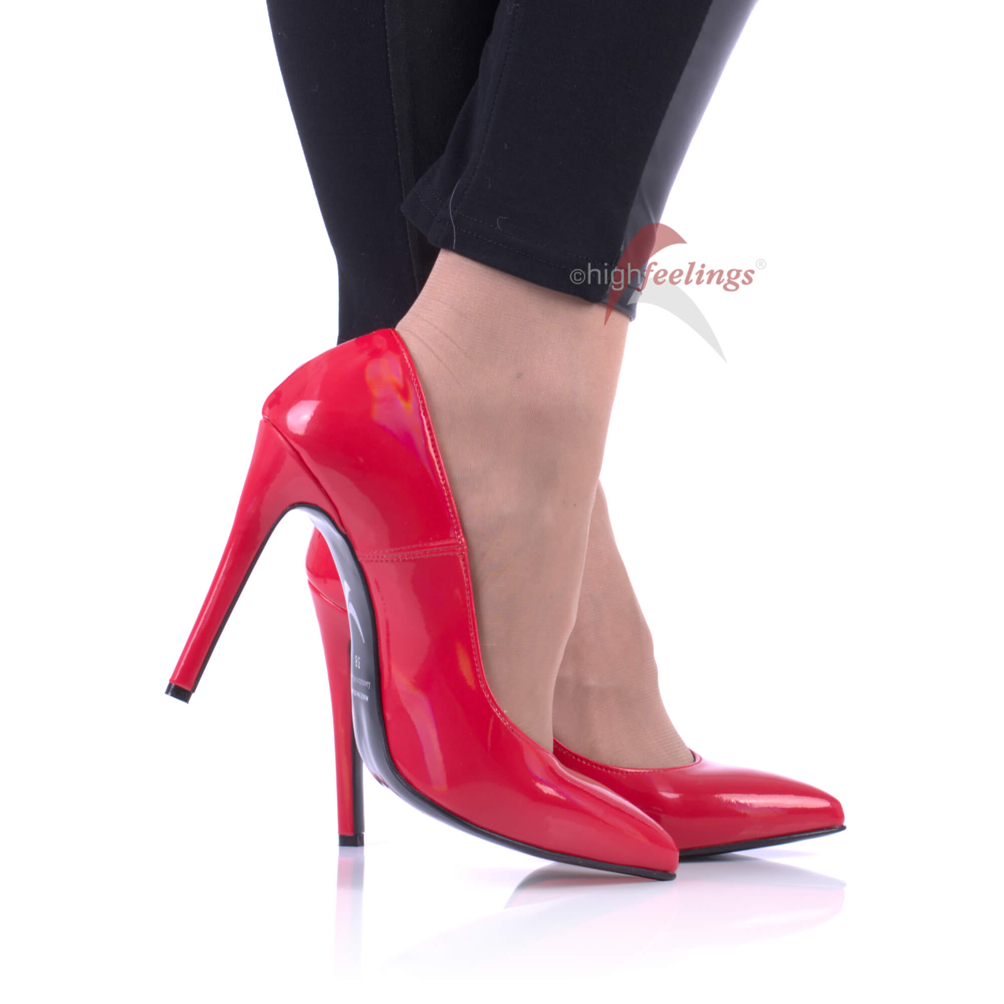 Details zu Rote Pumps High Heels Schimmernder Lack 10 12 cm Absatz Größe EUR 36 47