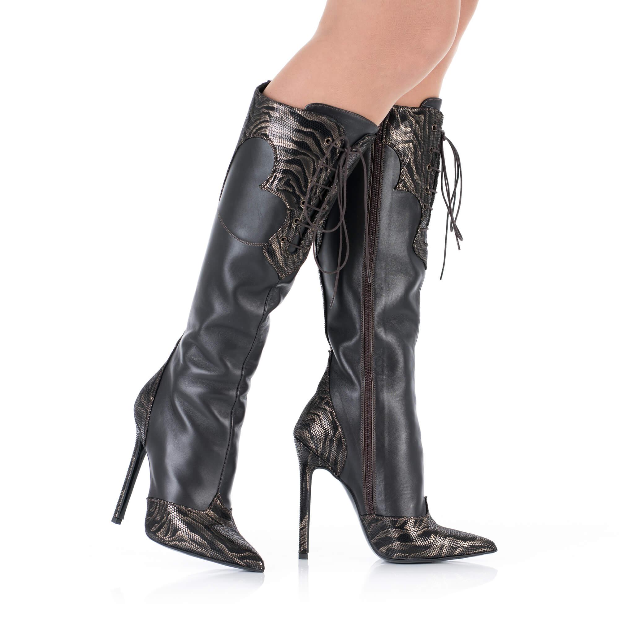 High Heels Lederstiefel Lederstiefel für