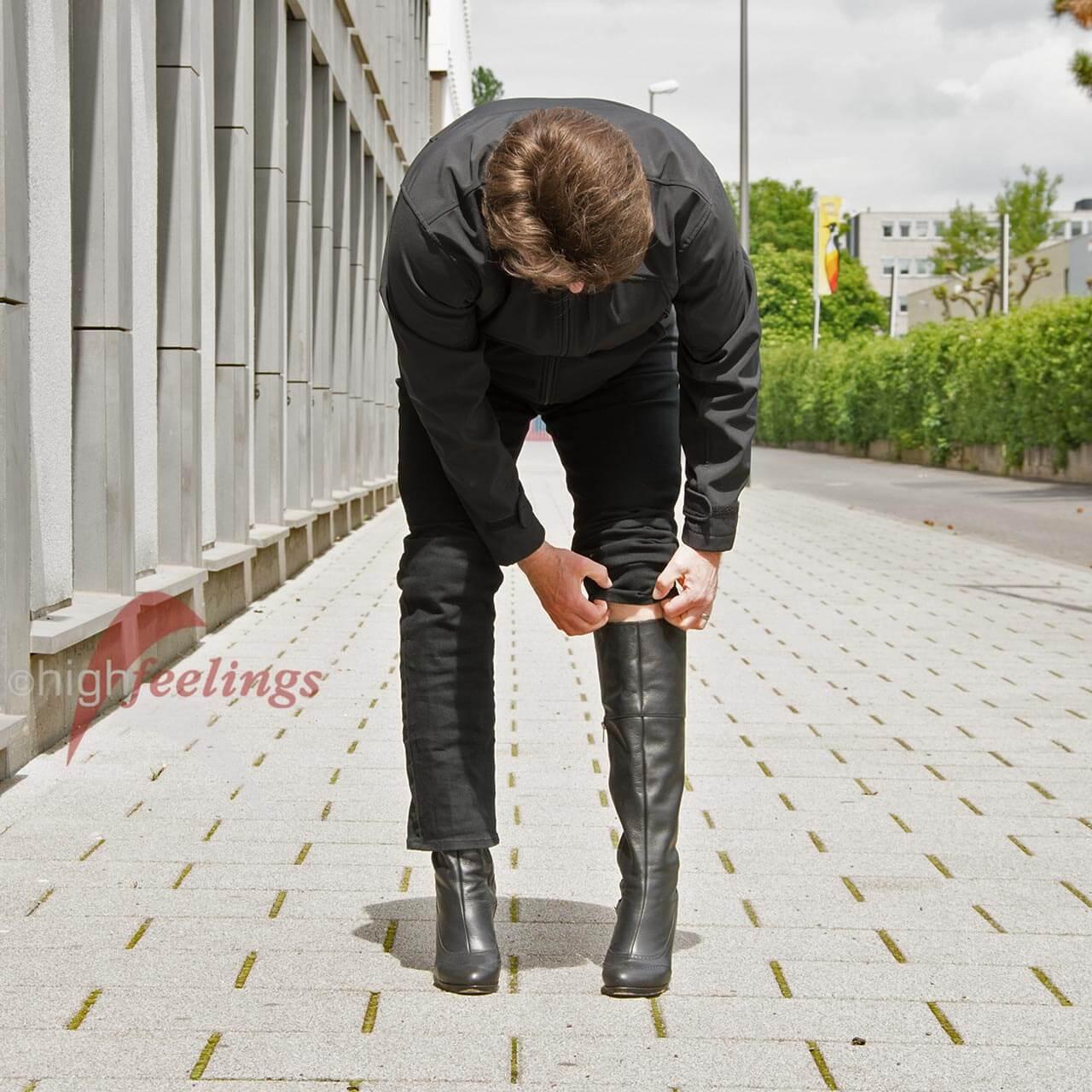 Stiefel mit hohem Absatz für Männer | high feelings