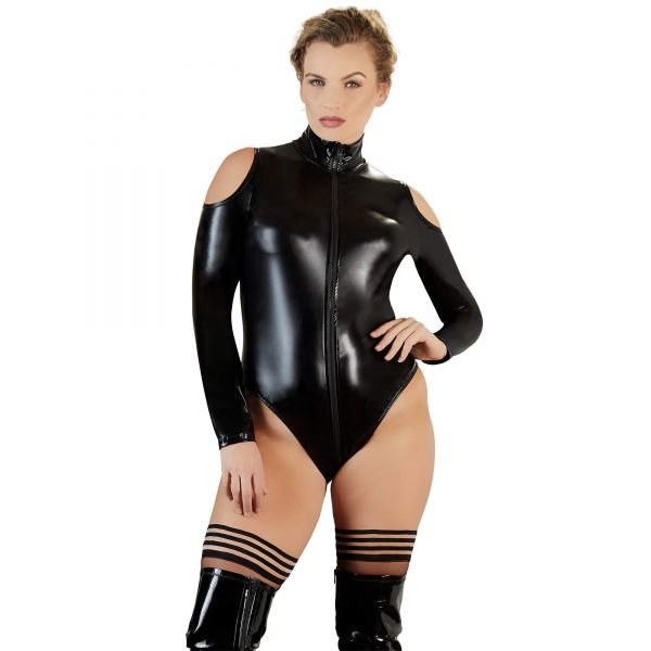 Wetlook-Body Schulterfrei