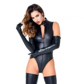 Wetlook Bodysuit Schwarz - BO150005