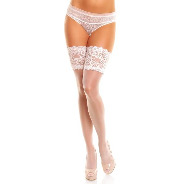 Halterlose Strümpfe Weiß 50115 Comfort 20
