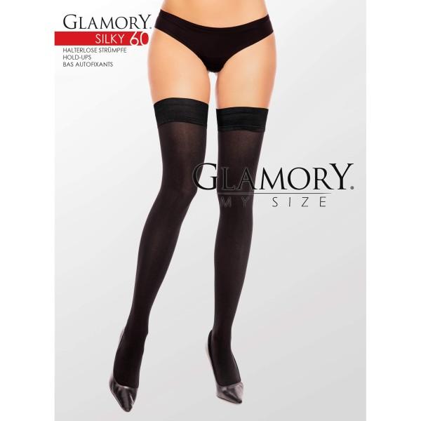 Halterlose Schwarz Glamory 50119 Silky 60