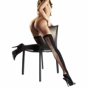 Sexy Halterlose mit Netzeinsatz - HA100002