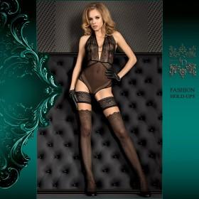 Halterlose Schwarz-Hautfarben 20 - 40 DEN Art. 386 - HA350003