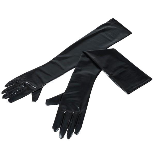 Lange Wetlook-Handschuhe