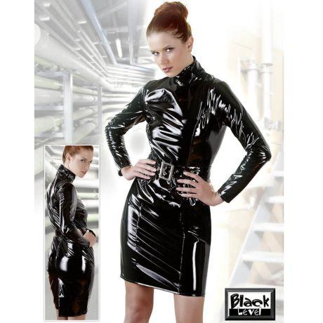 Lack-Kleid in Schwarz