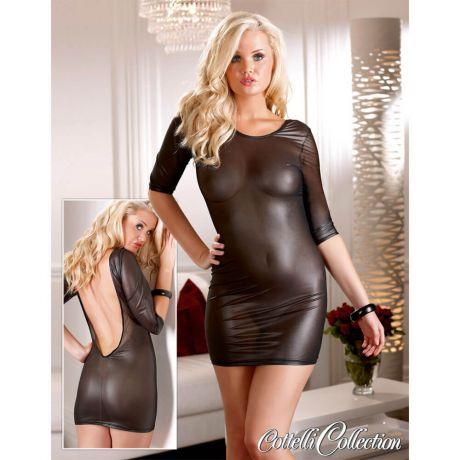 Transparentes Mini-Kleid