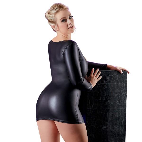 Enges Minikleid mit Glitzer-Reißverschluss