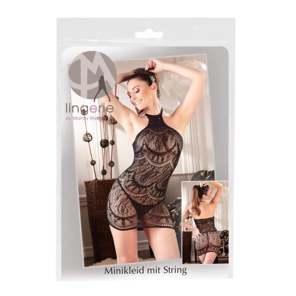 Neckholder Minikleid Schwarz