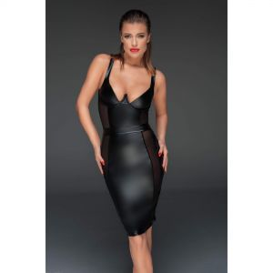 Minikleid Netz Wetlook - KL300012