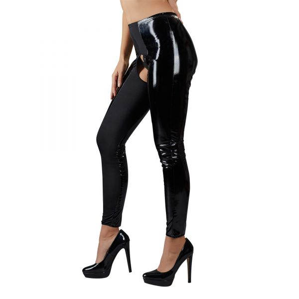 Lack-Leggings Ouvert