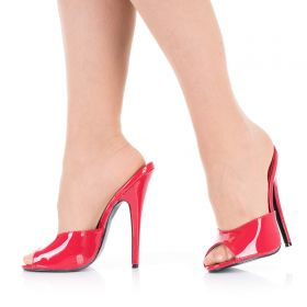 High Heels Pantoletten Rot Lack DOM101 - MU080056