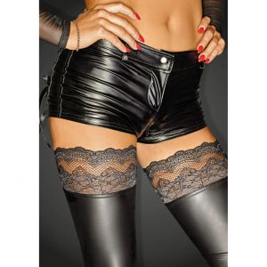 Wetlook Shorts Schwarz 2-Wege Zipper - PA300002