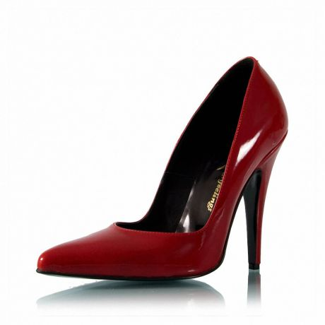 Rote Lackleder Pumps