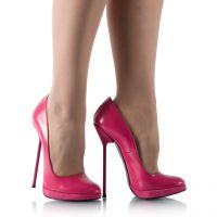 Pinke Pumps mit Metallabsatz - PU060035