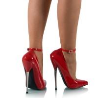 Vorschau: Extreme Stiletto High Heels Lack Rot