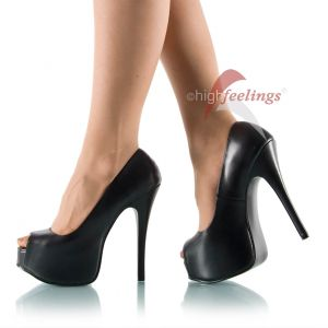 Plateau Peep Toe Pumps - PU080237