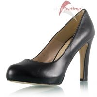 Leder-Pumps in Schwarz - PU310014