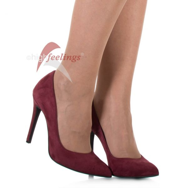 Pumps Weinrot Veloursleder