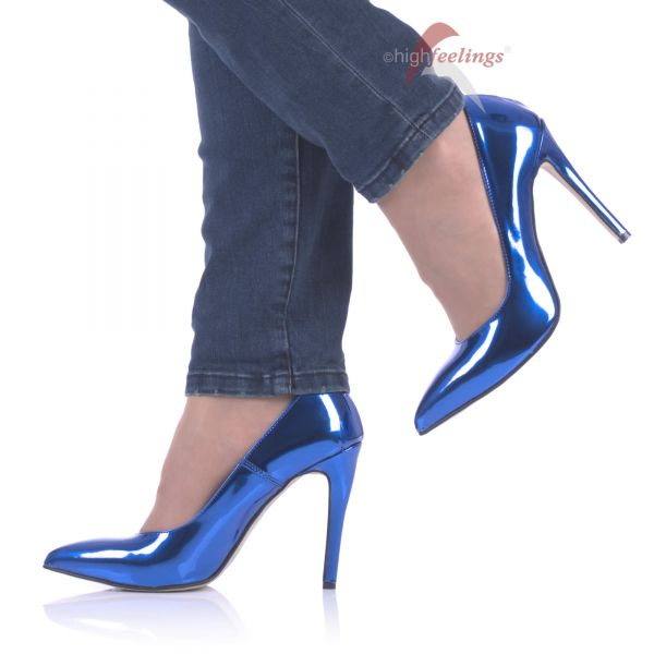 Pumps Blau Metallic