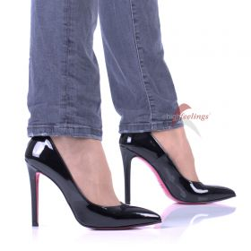High Heel Lack Pumps Schwarz - PU330013