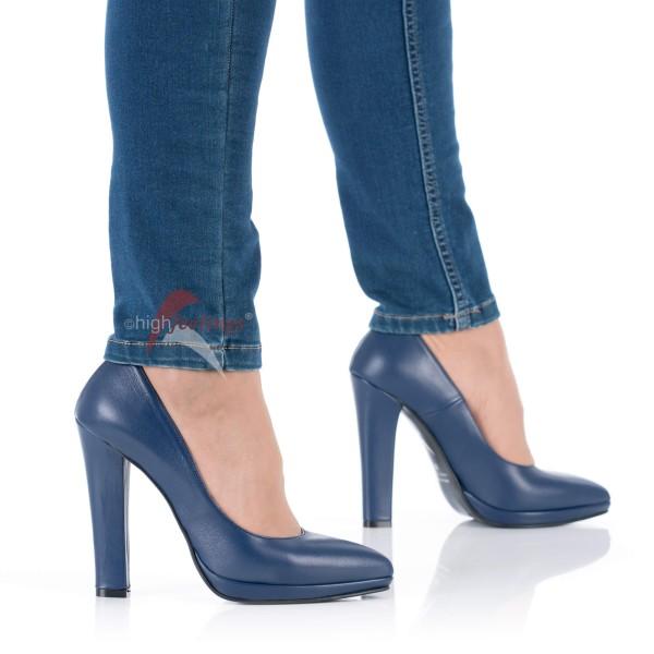 High Heels Pumps Blau