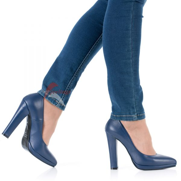 High Heels Pumps Blau