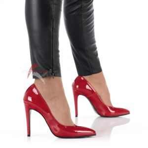 Rote Lack High Heels Pumps - PU330020