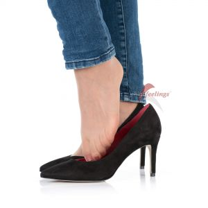 Pumps Veloursleder Schwarz - PU330021