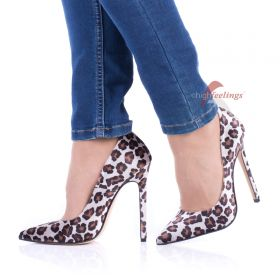 Samt High Heels Leo Pumps - PU330017