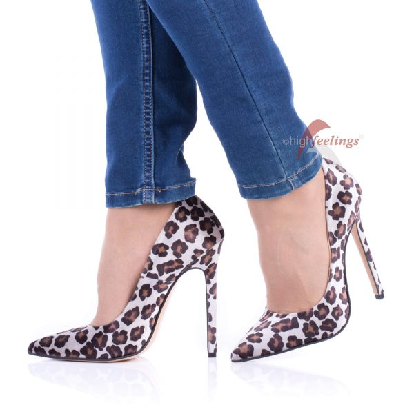 Samt High Heels Leo Pumps