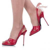 Vorschau: Sandaletten Rot Metallabsatz