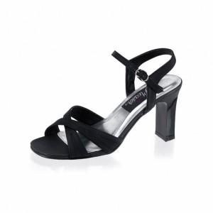 Damen Sandaletten Schwarz Übergröße - SA080021