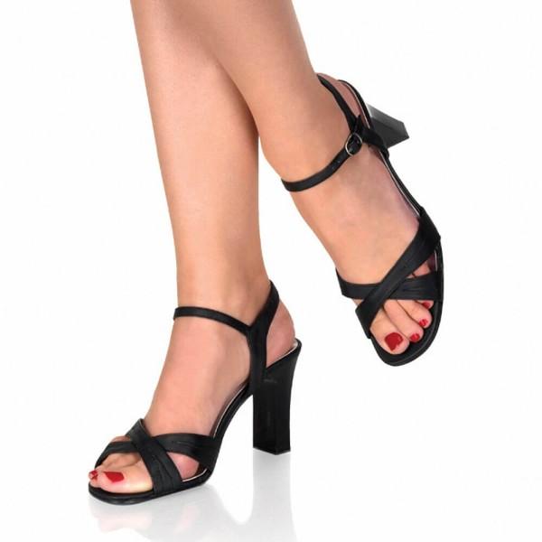 Damen Sandaletten Schwarz Übergröße
