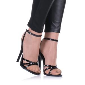 Hohe Sandaletten in Schwarz - SA080069