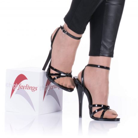 hohe sandaletten mit 13 15 cm absatz high feelings. Black Bedroom Furniture Sets. Home Design Ideas