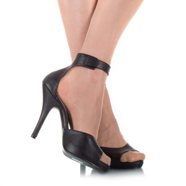 Damensandaletten Schwarz Übergröße