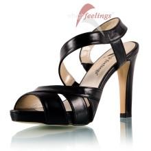 Schwarze Sandaletten mit 11 - 13 cm Absatz - SA310001