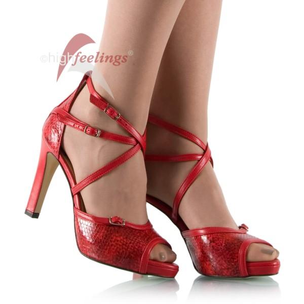 rote sandaletten mit riemchen 10 cm absatz high feelings. Black Bedroom Furniture Sets. Home Design Ideas