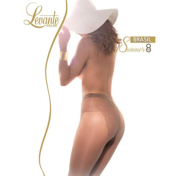 Strumpfhose mit Bikinihöschen Braun 8 DEN