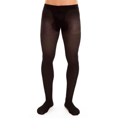 Männerstrumpfhosen Schwarz 40 DEN